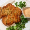 Crispy Chicken Cutlets with Sriracha Mayo