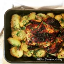 Mustard Roasted Chicken , mc2creativeliving.com