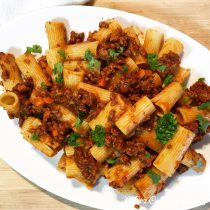 Rigatoni With Quick Ragu Sauce , mc2creativeliving.com