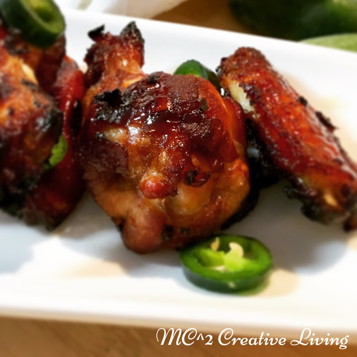 Honey Jalapeño Chicken Wing, mc2creativeliving.com