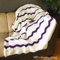 Rippled Afghan Pattern, mc2creativeliving.com