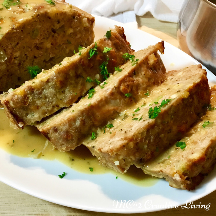 Stove Top Stuffing Turkey Meatloaf with Gravy, mc2creativeliving.com