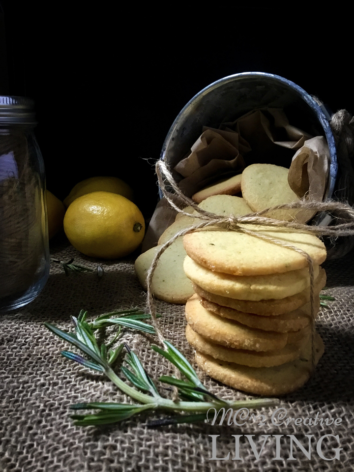 Lemon Rosemary Cookies, mc2creativeliving.com